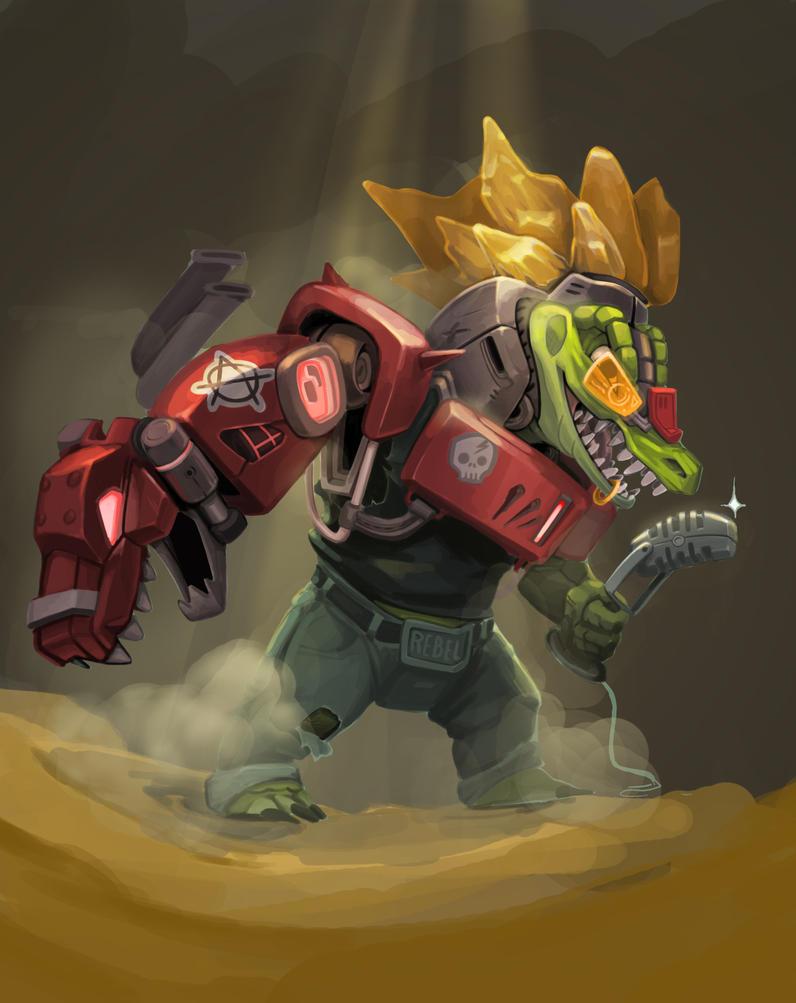 Cyber Gator by drakotitan
