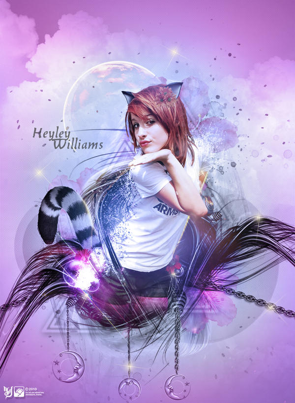 Pretty cat by queenphotoshop Digital Art Inspiration: Abstract Photoshop Manipulation Girls