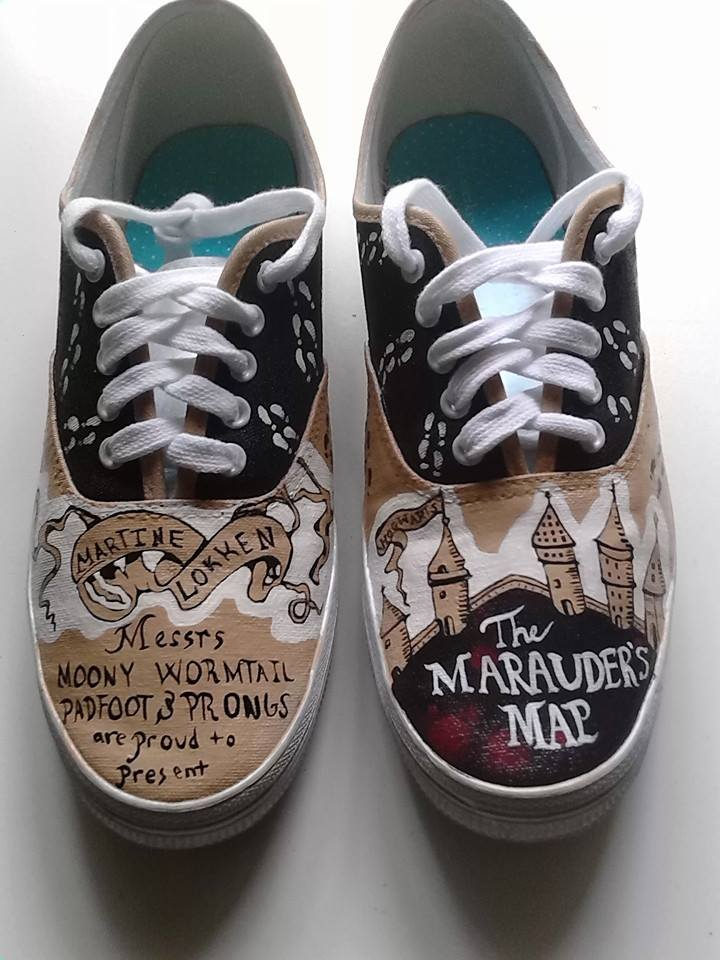 marauder map shoes by rivaliie on deviantart
