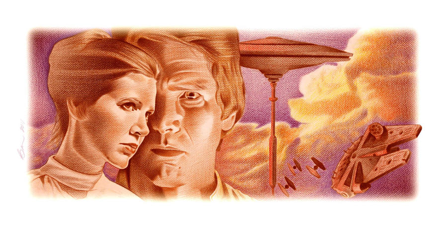 Han and Leia Color Study by BenCurtis