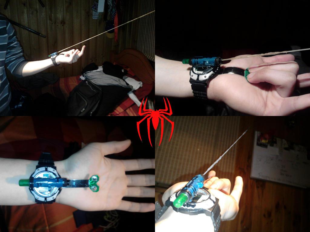 Как сделать паутину человека чтобы летать и стрелять