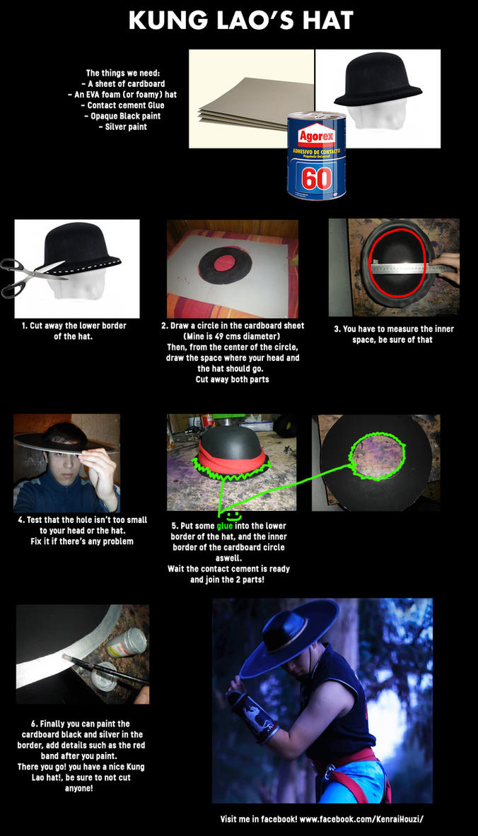 How to make Kung Lao's Hat - tutorial! by DorianG26