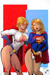 Power Girl  Super Girl By Redcloud07-db8mnmx-mrtom