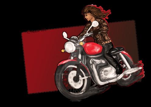 Ezri's motorbike commission / Ready!