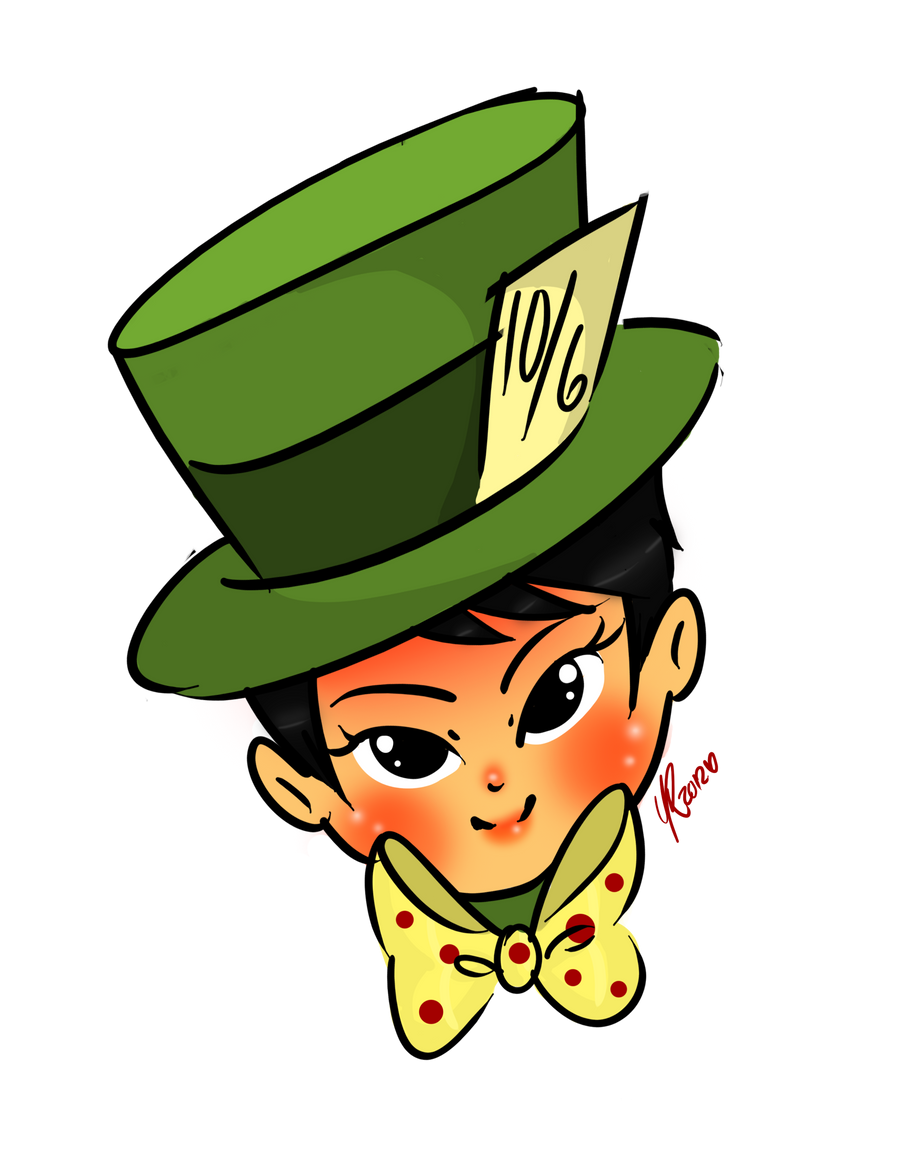 Mad hatters hat clip art