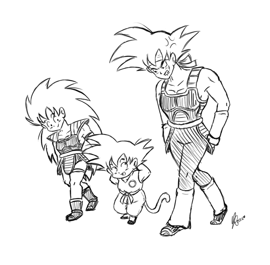 Pin pin kid goku coloring page picture to pinterest on for Kid goku coloring pages