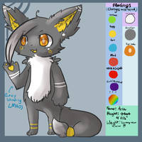 New Fursona Ref by Illusion-Kat
