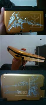 3DS xl - Lancers custom in aluminium case