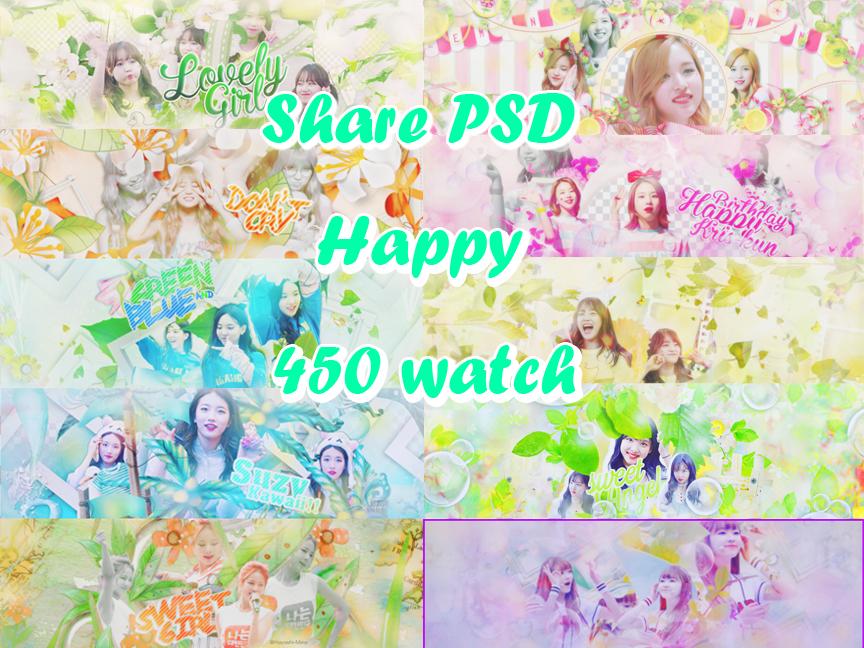 [Share PSD] Happy 450 watch by Hayashi-Miria