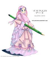 islamic arts girl by kuzuryo