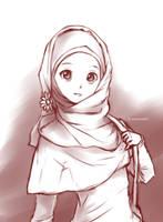 Random muslimah 8 by kuzuryo