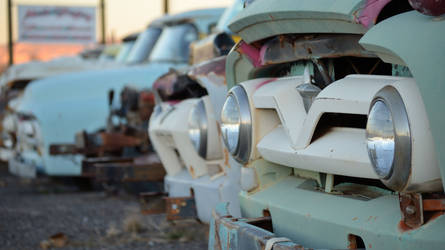 Ford F100 graveyard by thegaffney-photos