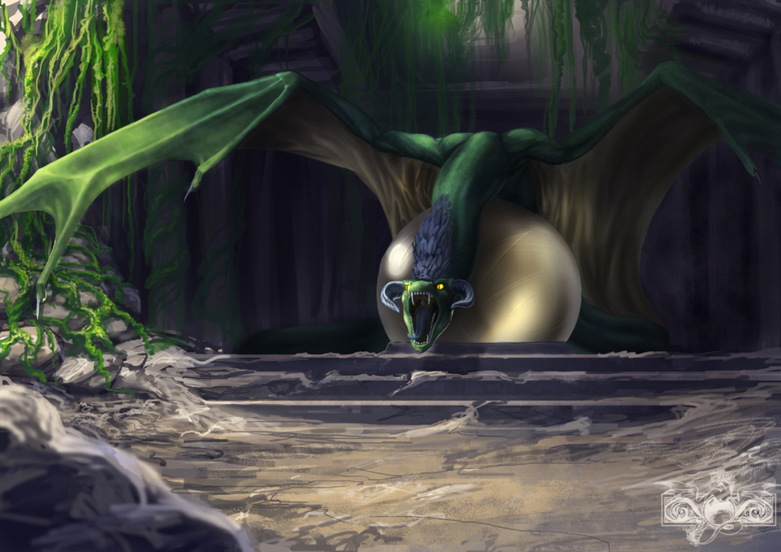 Serpent temple by Tharalin