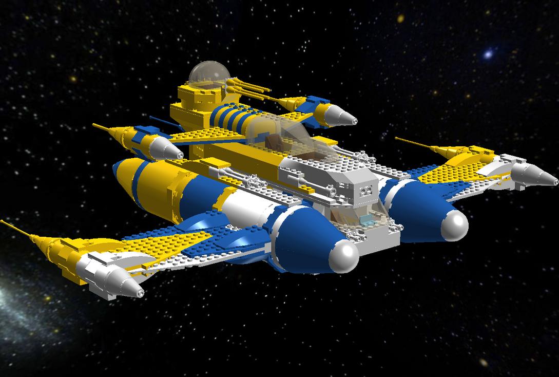 Lego SR-2X Royal Naboo Armed Transport by AlaricSkywalker