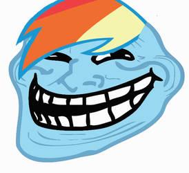 RainbowDash as Troll Face