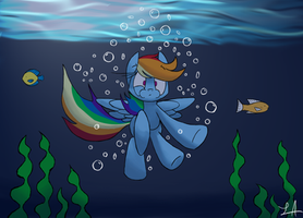 A Wet Landing by Lux121