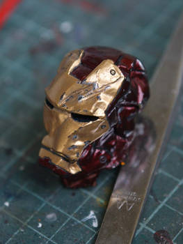 Iron man crushed helmet
