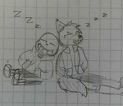[Random] SansAceleth time xD by Leth-Draws