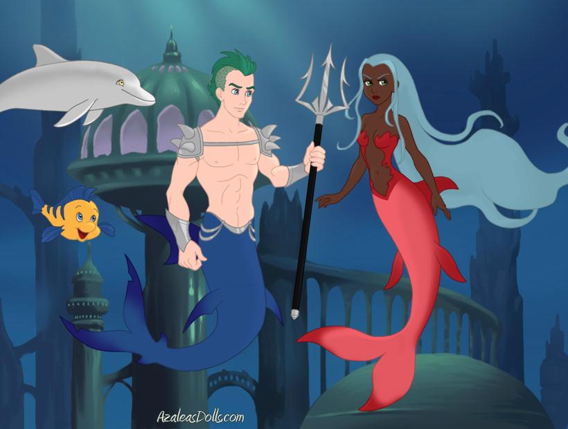Mermaid Scene by AzaleasDolls by CrimsonFox1385