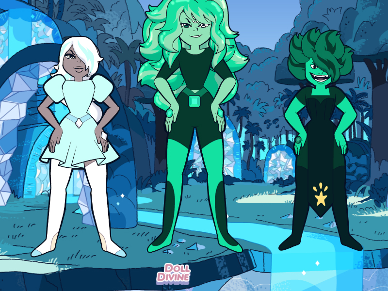 Diamond+Emerald=Turquoise by CrimsonFox1385