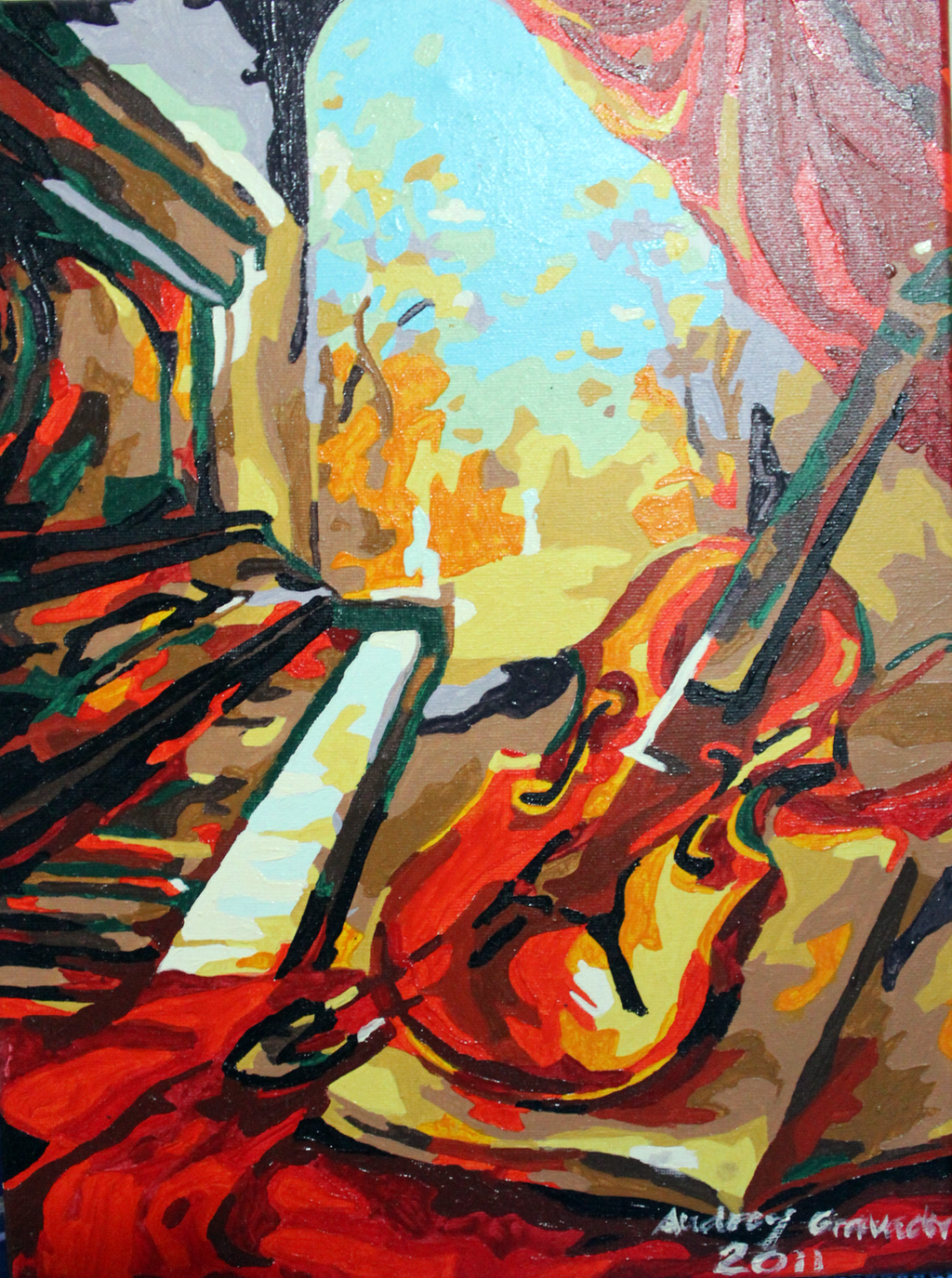 Piano and violin acrylic painting by gravadrey on deviantart for Acrylic art images