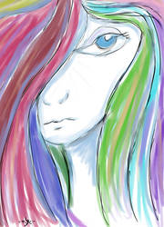 weird surealistic sad girl