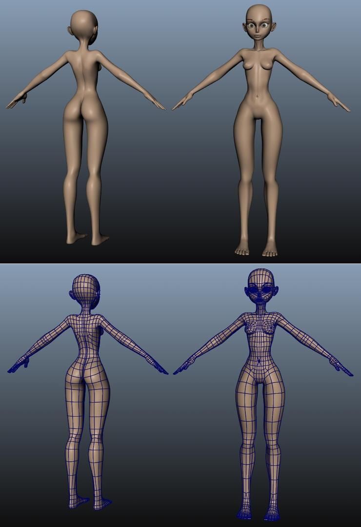 Anime Female Body by NB-DanTE