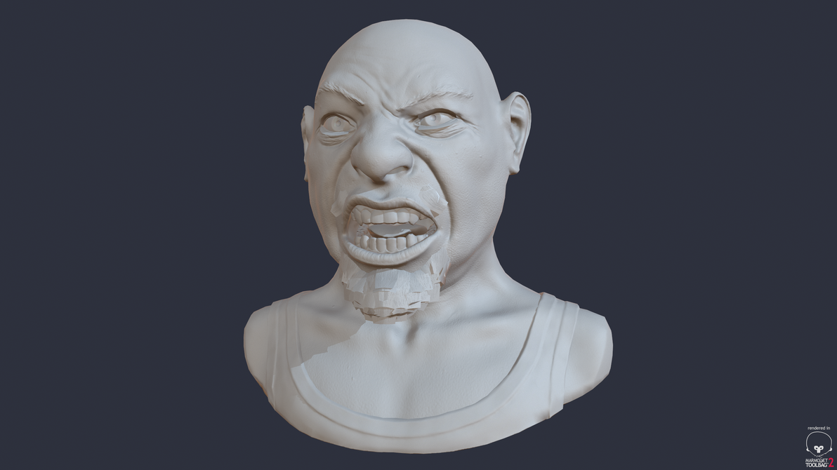 Angry Final shaded/normal map by NB-DanTE