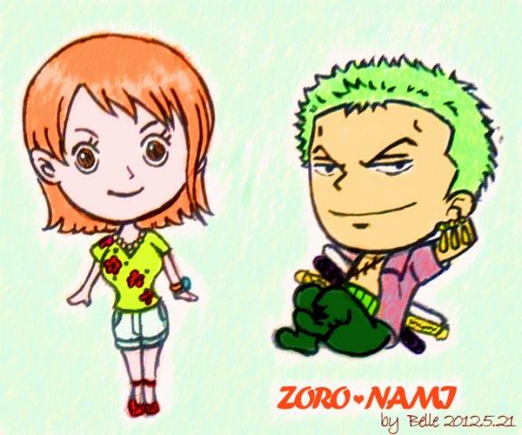 Zoro Nami (re-colored version) by BelleLoveZoro