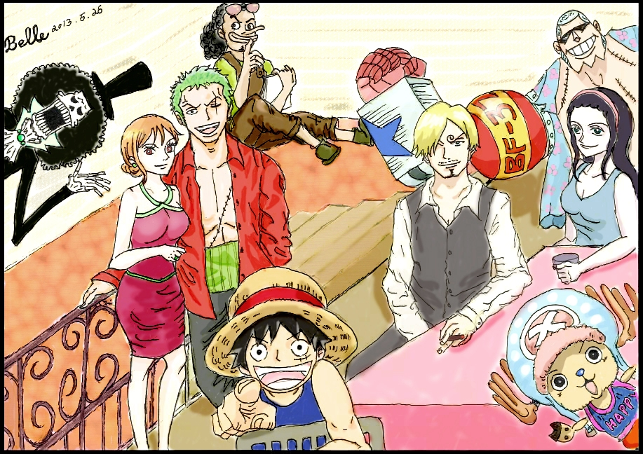 Get-together Colored Version (One Piece) by BelleLoveZoro