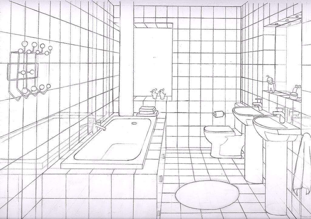 How To Draw A Bathroom: How To Draw A Bathtub Bubble Bath