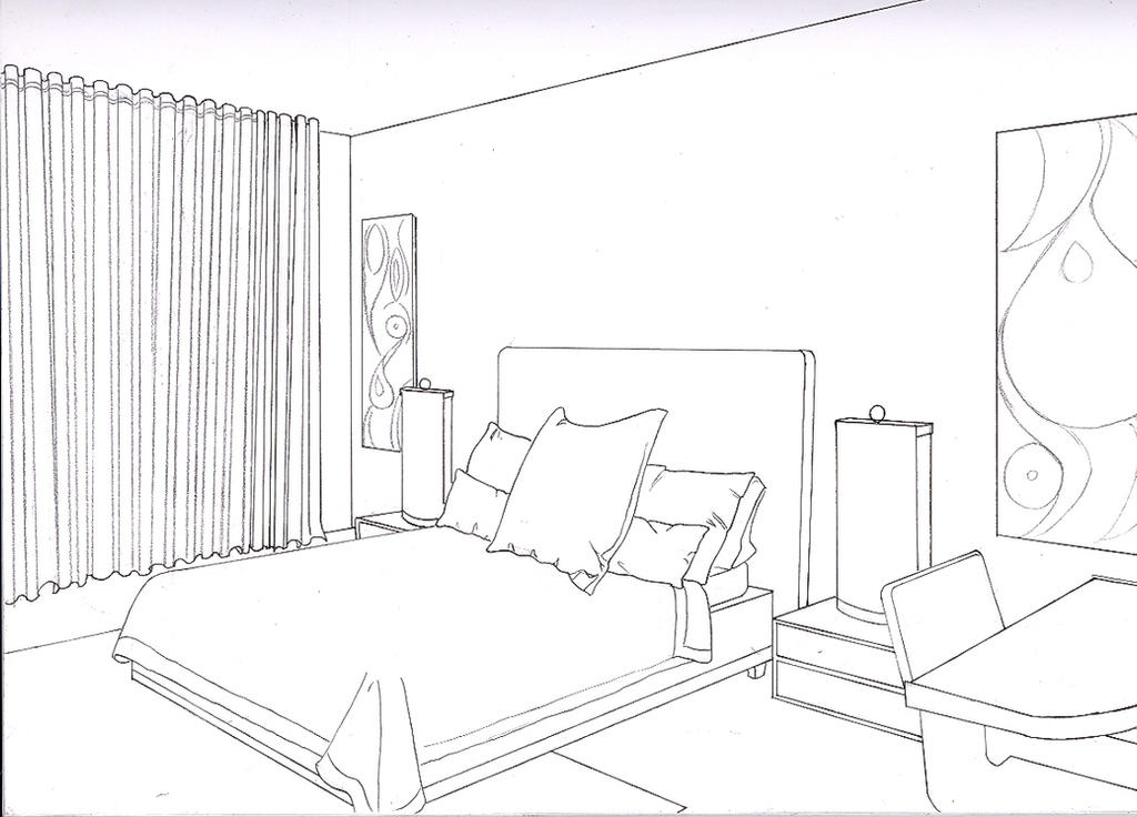 Bedroom 2 point by liquidrice on deviantart for Bedroom 2 point perspective