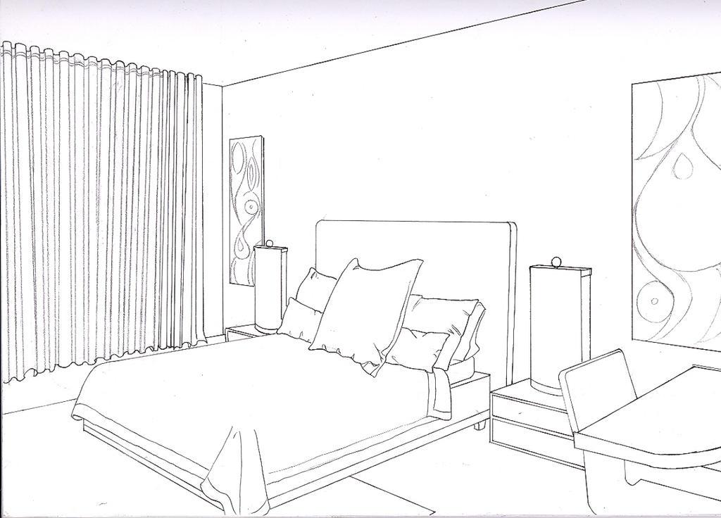 Комната в перспективе рисунок поэтапно