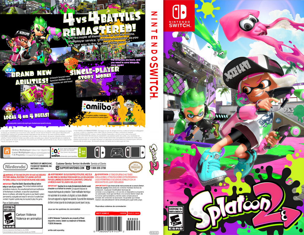 Splatoon 2 Box Art Concept Psp Fitted By