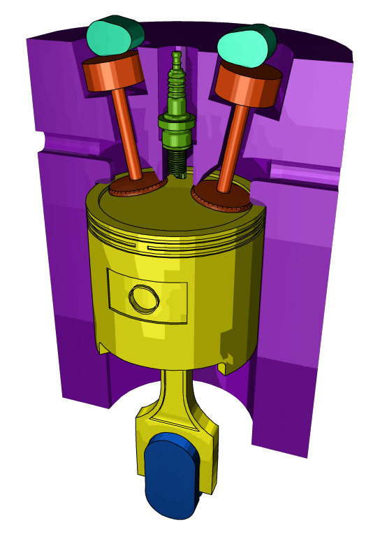 four stroke engine by