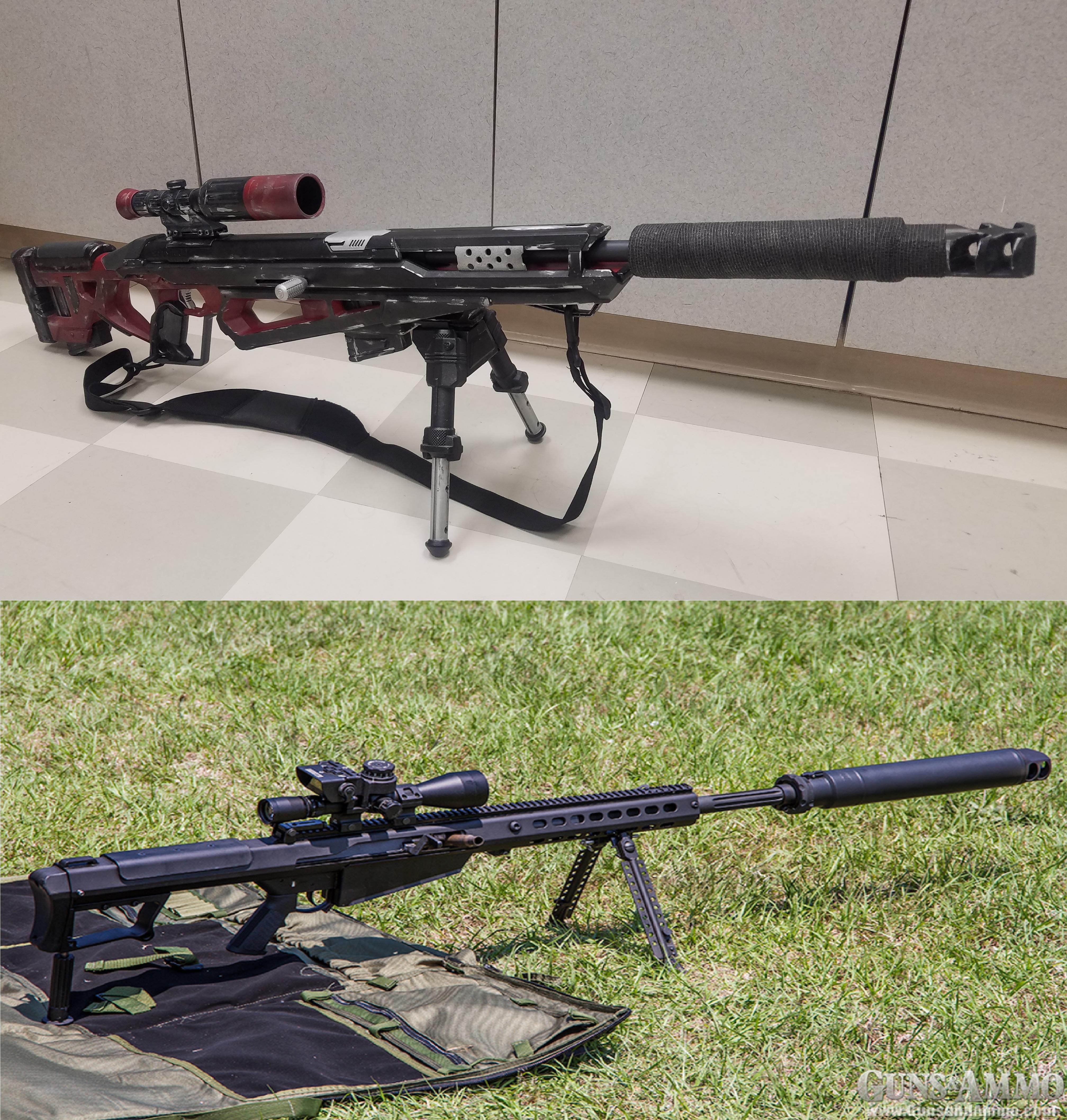 Nerf Raptorstrike vs Suppressed Barrett M107A1 by gchildjr