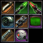 sci-fi icons set