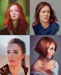 face speedpaints by wanderer-arts