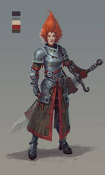 redhead warrior by wanderer-arts