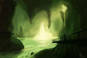 Speedpainting - Caverns by Kratilim