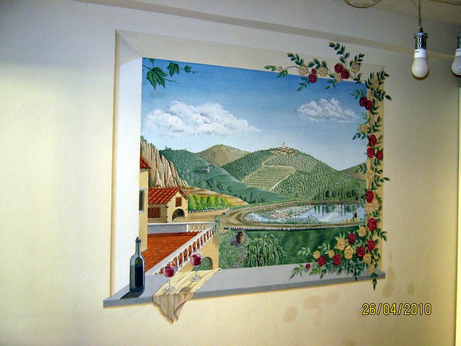 trompe l 39 oeil landscape by arnetoli on deviantart. Black Bedroom Furniture Sets. Home Design Ideas