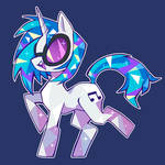 Walk to the beat Vinyl Scratch