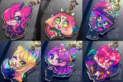 Holographic LoL Keychains- coming soon
