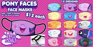 Pony Faces - Fashion Face Masks