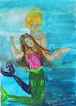 Mermaids: Cloud and Aerith