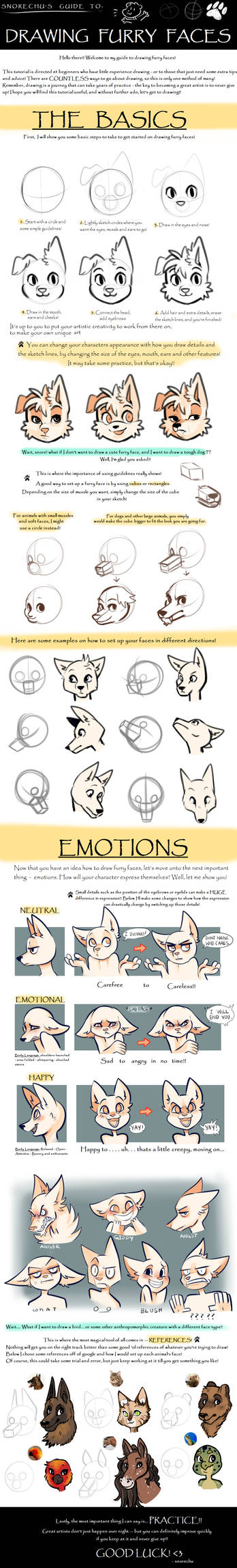 Guide to Drawing Furry Faces 2.0
