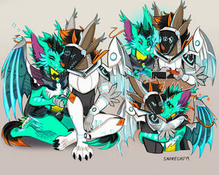 Sketch Page - DracoDravige by Snorechu