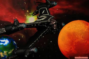 Babylon 5 Black Omega-Starfury by volkerheide