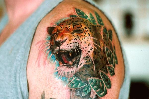 Jaguar Tattoo - chest tattoo