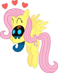 Fluttershy Hugging a Squirt